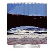 Natural Stone Bridge - Aruba Shower Curtain