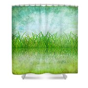 Nature And Grass On Paper Shower Curtain