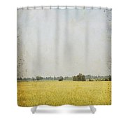 Nature Painting On Old Grunge Paper Shower Curtain