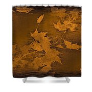 Natures Gold Leaf Shower Curtain