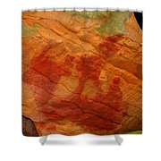 Nature's Palette In Stone Shower Curtain