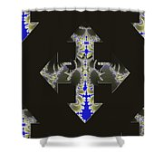 Nautical Cross Shower Curtain