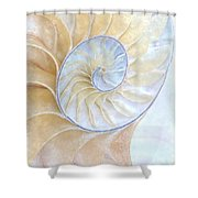 Nautilus Frost Shower Curtain