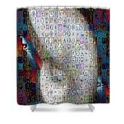Nautilus Shell Mosaic Shower Curtain