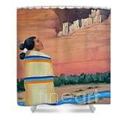Navajo Woman Shower Curtain