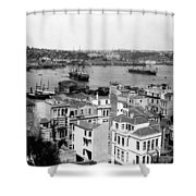 Naval Arsenal And The Golden Horn - Ottoman Empire - Turkey Shower Curtain