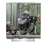 Naval Reservists And Active Duty Shower Curtain