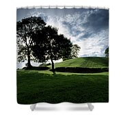 Navan Fort, Co Armagh, Ireland Shower Curtain by The Irish Image Collection
