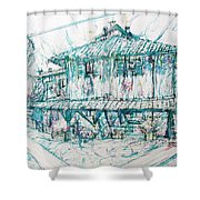 Navigli City Of Milan In Italy Portrait Shower Curtain