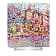 Navigli City Of Milan In Italy Portrait.1 Shower Curtain