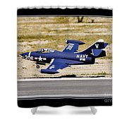 Navy Landing Shower Curtain