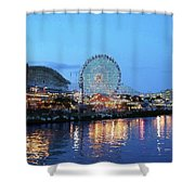 Navy Pier Chicago Digital Art Shower Curtain