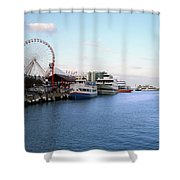 Navy Pier Chicago Summer Evening Shower Curtain