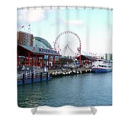 Navy Pier Chicago Summer Time Shower Curtain