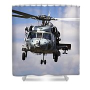 Navy Pilots In A Sh-60f Seahawk Conduct Shower Curtain