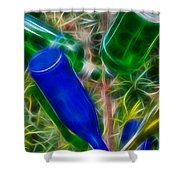 Naw'lins Wine Bottle Tree Shower Curtain
