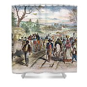 Nc: Freed Slaves, 1863 Shower Curtain