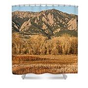 Ncar And Flatiron View Boulder Colorado   Shower Curtain