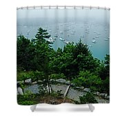 Ne Harbor Maine Seen From Thuya Gardens Mt Desert Island  Shower Curtain