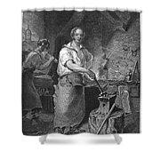 Neagle: Blacksmith, 1829 Shower Curtain
