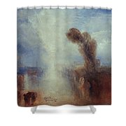 Neapolitan Fisher-girls Surprised Bathing By Moonlight Shower Curtain