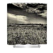 Nebraska Prairie Two In Black And White Shower Curtain