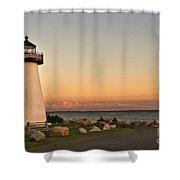 Neds Point Light House Mattapoisett Ma Shower Curtain