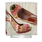 Needlepoint Peep Toes Shower Curtain