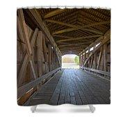 Neet Covered Bridge Interior Shower Curtain