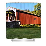 Neff's Mill Covered Bridge In Lancaster County Pa. Shower Curtain