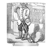 Negro Porter, 19th Century Shower Curtain