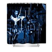 Blue Drums Shower Curtain