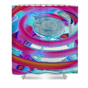 Neon Burner Shower Curtain
