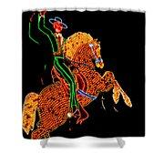 Neon Cowboy Las Vegas Shower Curtain by Garry Gay