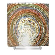 Neon Lights Spinning Shower Curtain