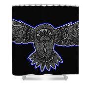 Neon Owl Shower Curtain