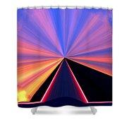 Neon Pinnacle Shower Curtain