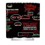Neon Signs, 1937-1971 Shower Curtain by Granger