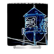 Neon Water Tower Shower Curtain