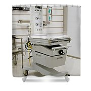 Neonatal Warming Table Shower Curtain