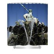 Neptune Fountain Shower Curtain