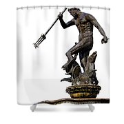 Neptune God Of The Sea Shower Curtain by Artur Bogacki