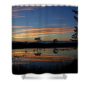 Nerepis Marsh Sunset Shower Curtain