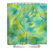 Nerissa  Daughter Of The Sea Shower Curtain