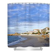 Nerja Beach On Costa Del Sol Shower Curtain