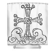 Nestorian Cross, 781 A.d Shower Curtain