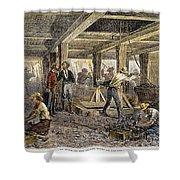Nevada Silver Mine, C1880 Shower Curtain