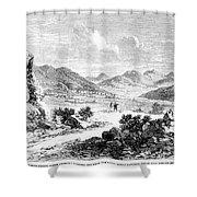 Nevada: Washoe Region, 1862 Shower Curtain