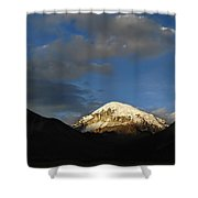 Nevado Sajama At Sunset. Republic Of Bolivia.  Shower Curtain by Eric Bauer
