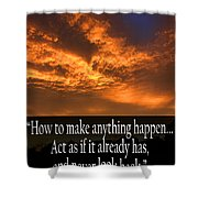 Never Look Back Shower Curtain